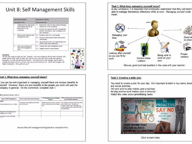 Employability Skills: Self management and time management skills