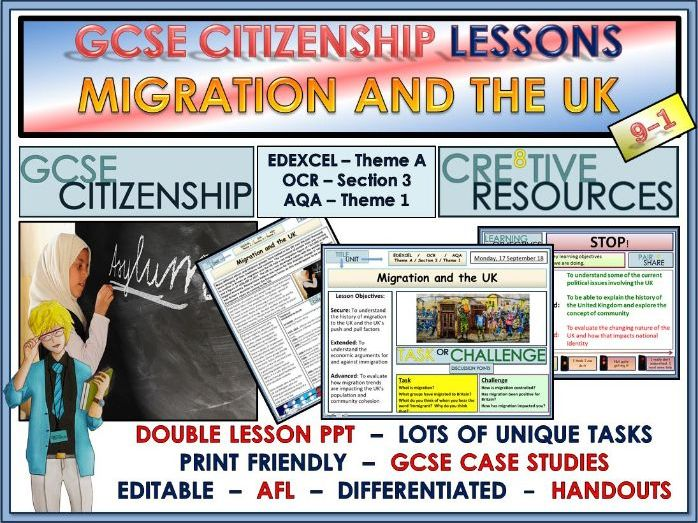 Lessons - Migration Trends and the UK - GCSE Citizenship 9-1