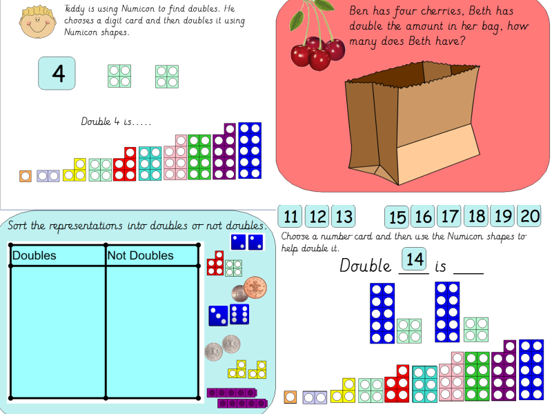 Year 1 Doubling Using Numicon