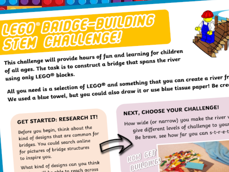 STEM Bridge Building Challenge Activity with LEGO (R) Bricks