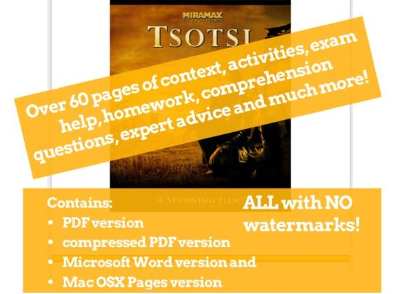 Tsotsi GCSE Film Studies Scheme of Work / Revision / Viewing Booklet