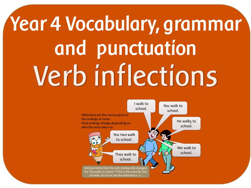 SPaG Year 4 Word Grammar: Standard English forms for verb inflections