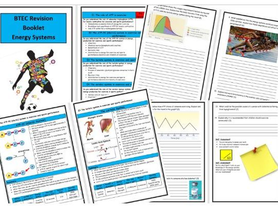 Btec Level 3 - Sport - Unit 1 - Energy Systems Revision Notes/Guide - Includes Tick List & Test
