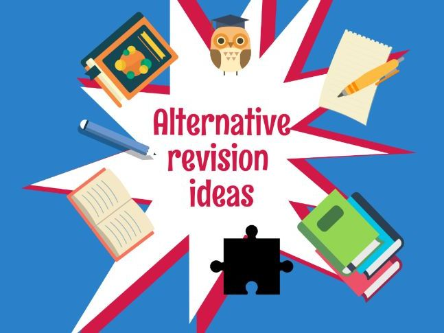 Alternative revision ideas poster