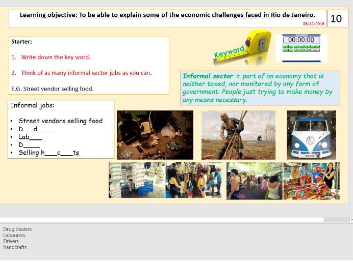 Lesson 5/9 Economic Challenges in Rio de Janeiro (Urban World) [AQA GCSE Geography new spec]