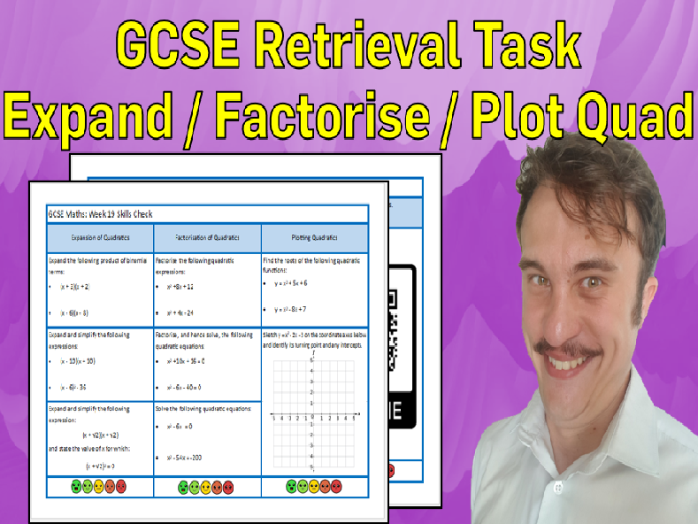 Expansion, Factorisation and Plotting Quadratics GCSE Foundation/Resit Retrieval Sheet