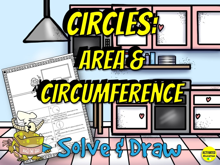 Area & Circumference of Circles Solve & Draw Activity