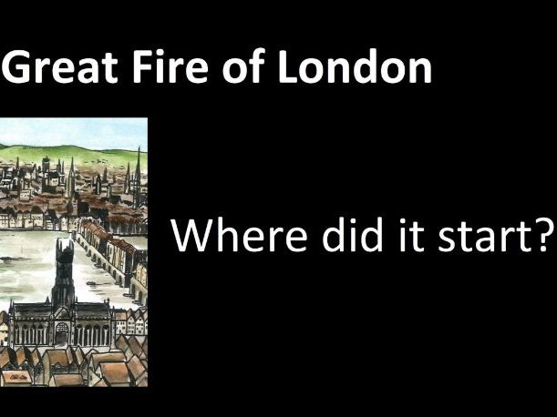 Where did the Great Fire of London start? Video showing primary sources and Pudding Lane