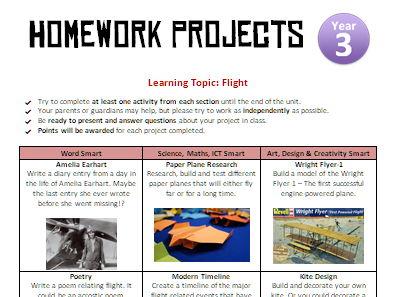 Homework Projects - Flight/Aviation