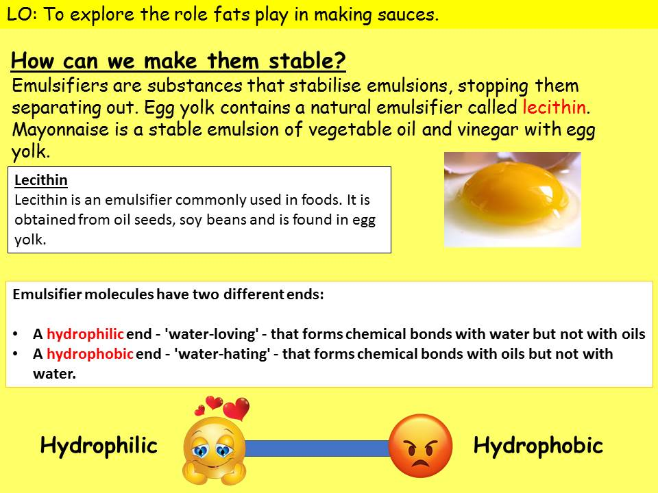 Emulsification - function of fats (food science)