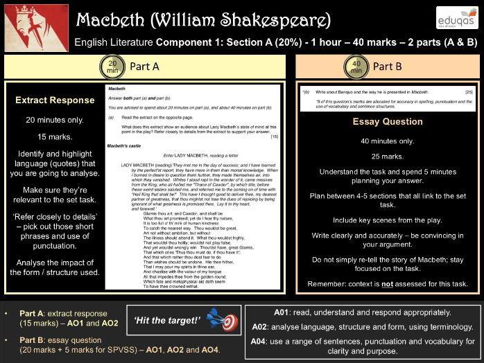 GCSE English Literature - Macbeth Exam Guide