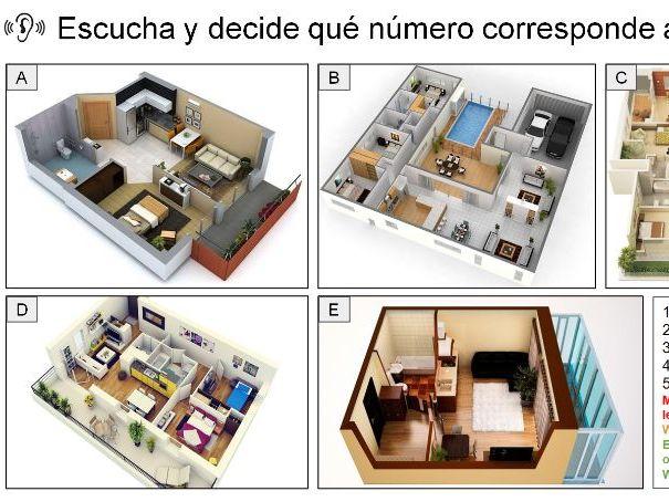 GCSE Spanish: Mi casa y mi barrio (4 skills revision)