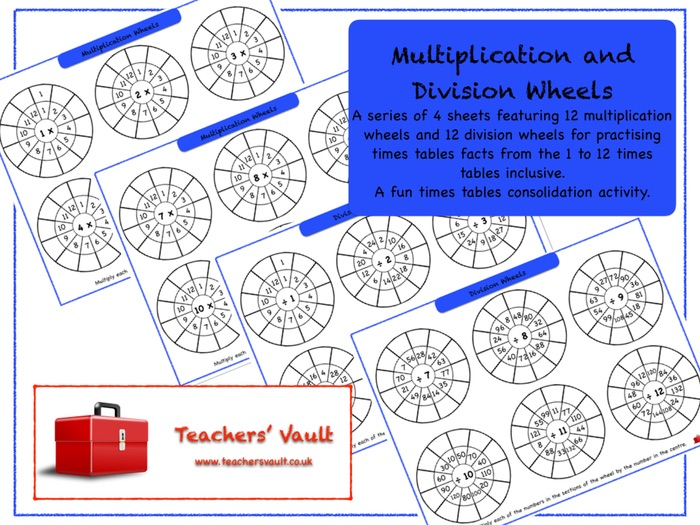 Multiplication and Division Wheels