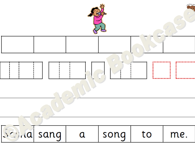 Caption/sentence ordering and phoneme frames - All Phase 3 sounds