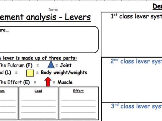 Lever system worksheet