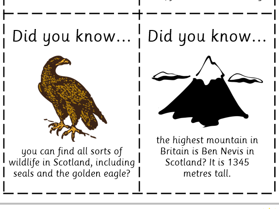 Fun Fact Cards: Scotland