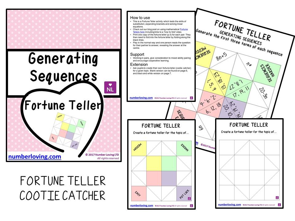 Generating Sequences Fortune Teller