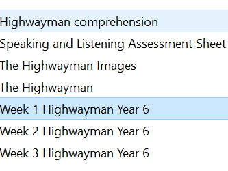 The Highwayman Year 6 - 3 Week Planning & resources