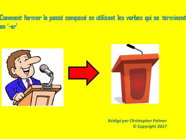 French: General lesson on regular '-er' verbs in the perfect tense