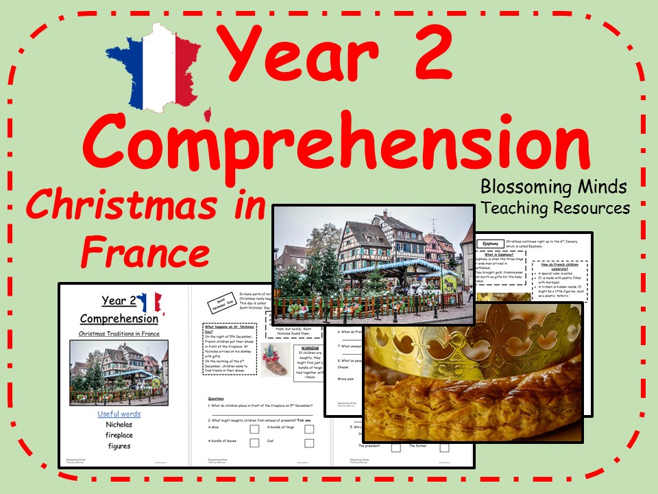 Christmas in France Comprehension - Year 2