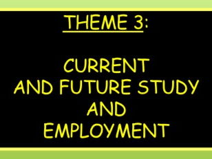 NEW GCSE / AQA / Current and future study and employment (2016+)
