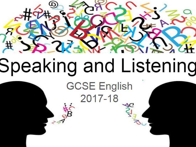 AQA New specification Speaking and Listening