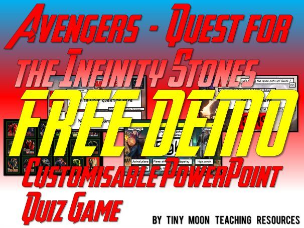 Marvel's Avengers - Quest for the Infinity Stones PowerPoint Quiz Game DEMO