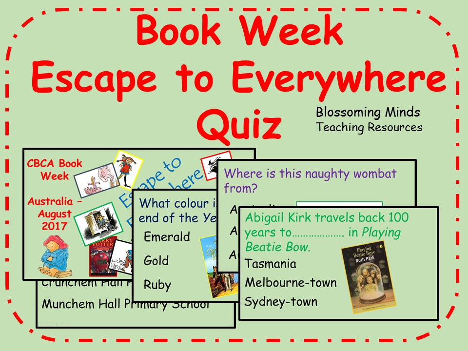 CBCA Book Week Quiz - Escape to Everywhere theme (60 questions)
