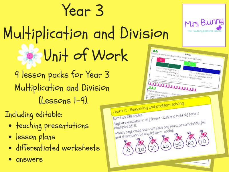 Year 3 Multiplication and Division Unit Pack (Spring Block)