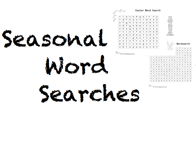 Seasonal Word Searches