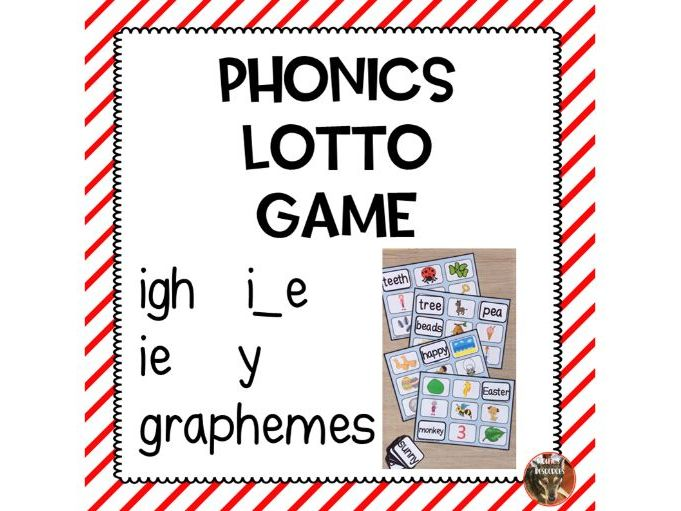 Phonics Lotto Game - igh Sounds
