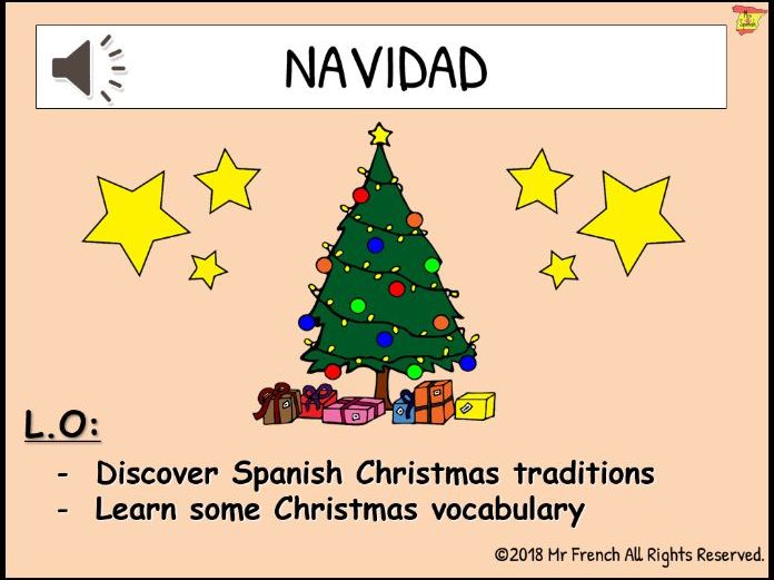 Navidad (Christmas in Spain)- 1 lesson! Y3/Y4/Y5/Y6 (2nd Grade-> 5th Grade)