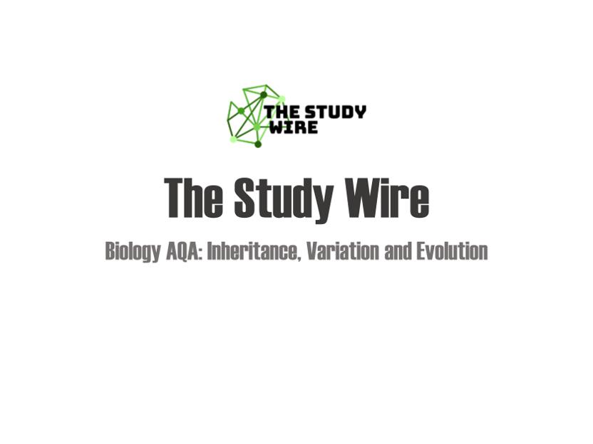 Biology Placemats: Inheritance, variation and evolution