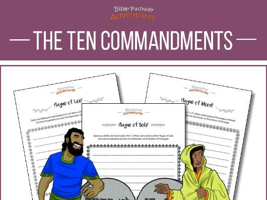 Ten Commandments: creative writing & coloring workbook