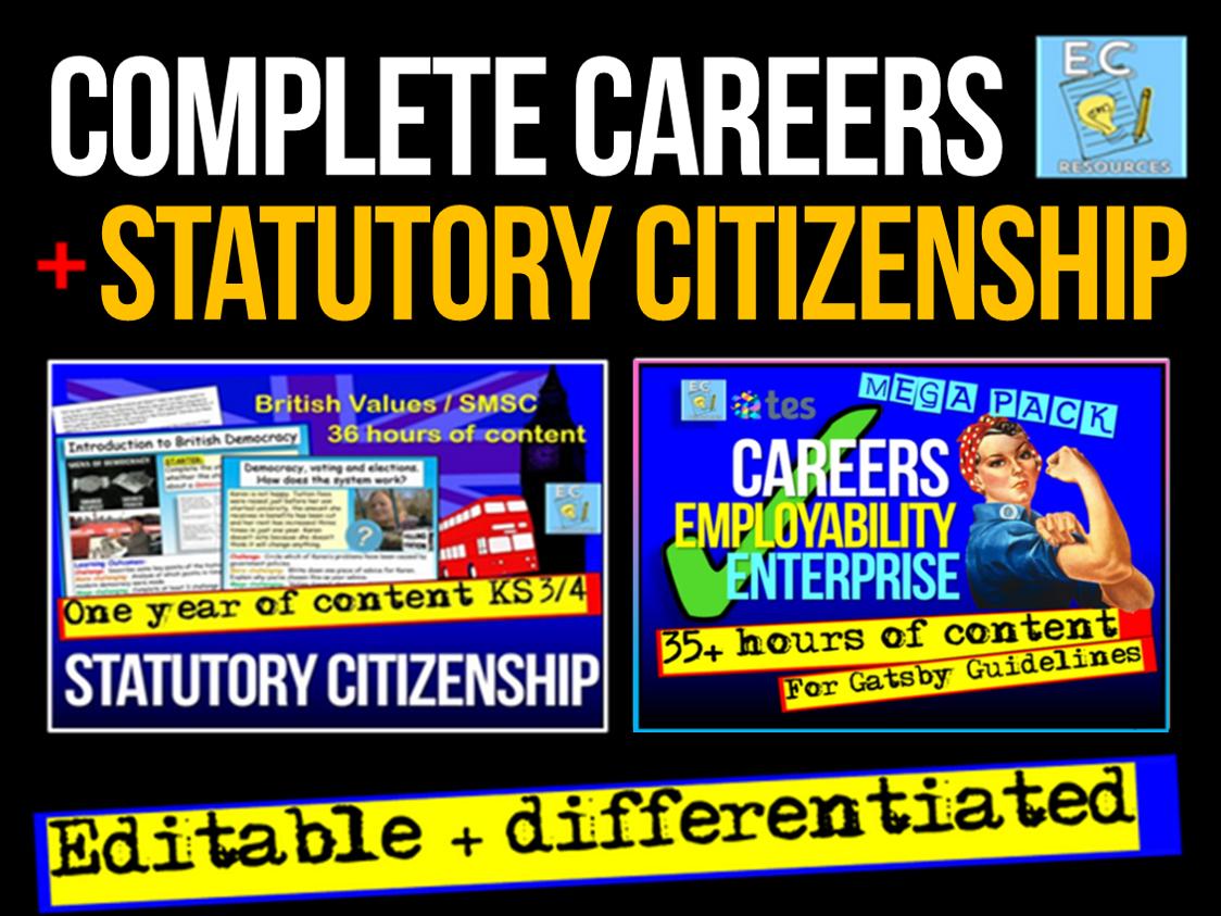 Careers + Citizenship KS3 KS4