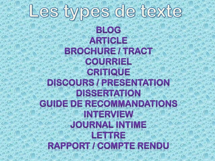 IB DP French B - Text types practice for paper 2 (Individual Word docs can be edited)