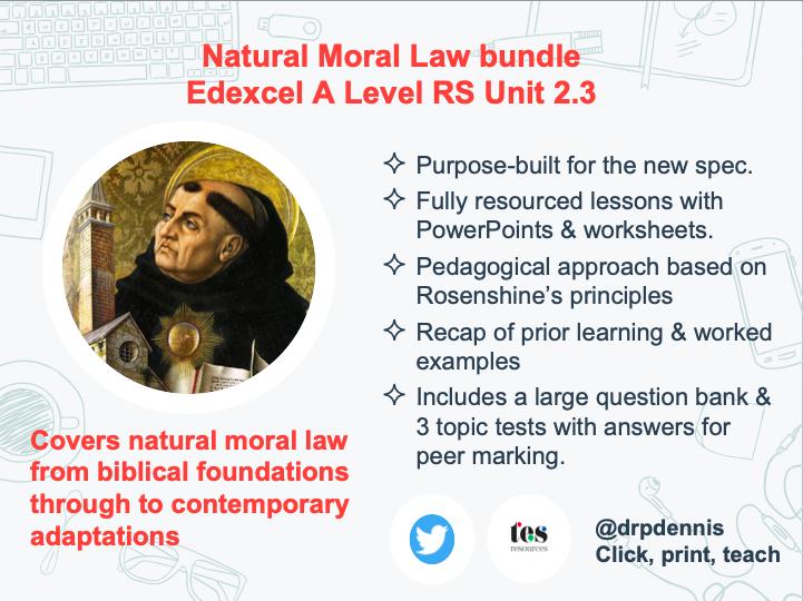 Natural Moral Law Bundle (Edexcel New Spec)
