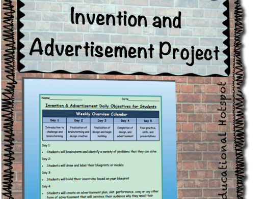 Shark Tank Inspired Invention and Advertisement Creation Challenge Project