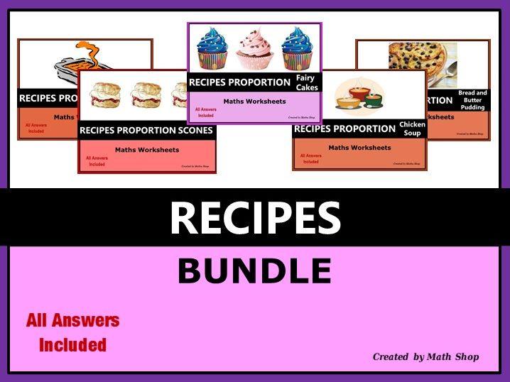 Proportion Ratio Recipes Bundle - Metric