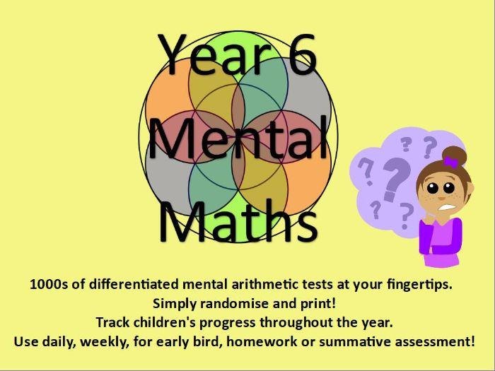 Year 6: Mental Arithmetic Tests