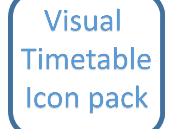 Visual timetable icon pack