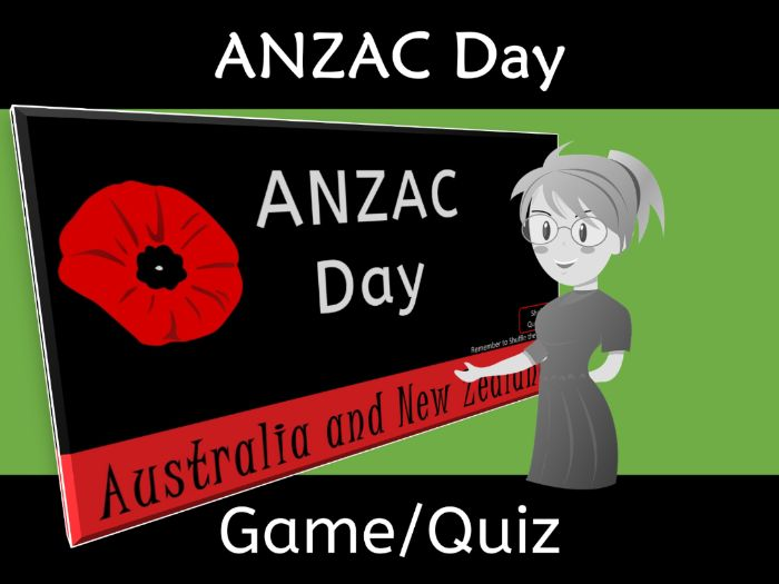 ANZAC Day Jeopardy Quiz Game