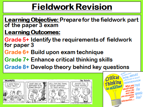 Geography GCSE AQA Fieldwork Paper 3 Revision