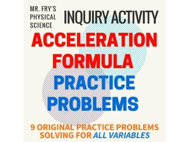 Acceleration Formula Practice Problems