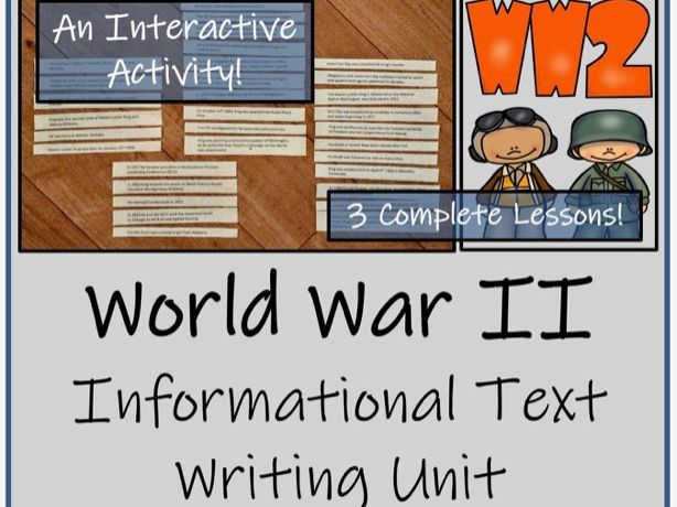 World War II Informational Text Writing Unit