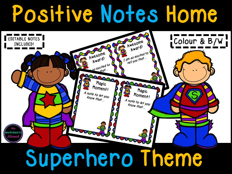 Positive Notes Home to Parents - Celebrate Behaviour, Effort and Attainment