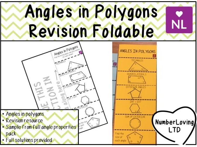 Angles in Polygons Revision Foldable