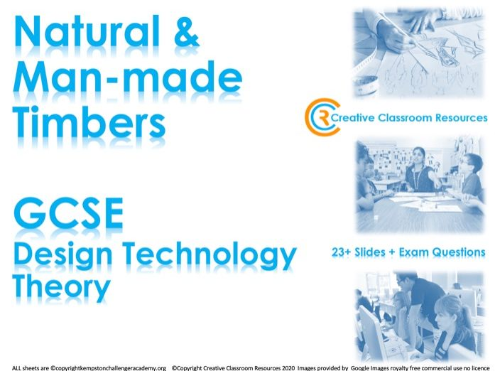GCSE DT Theory (New Spec) – Natural & Man-Made Timbers