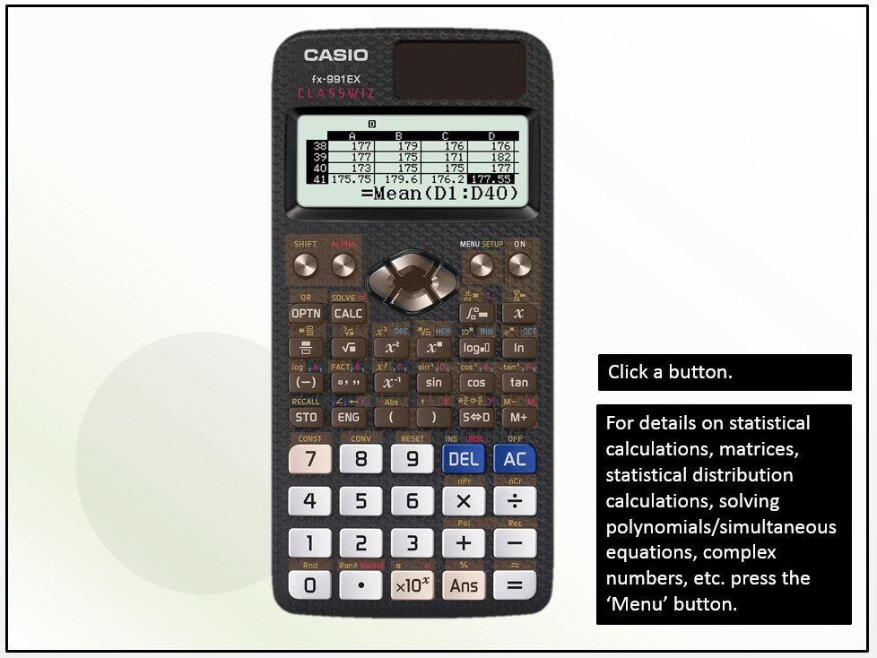 Guide to your Casio FX991EX-Classwiz