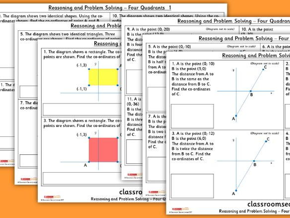 Year 6 Four Quadrants WRM Position and Direction Reasoning and Problem Solving